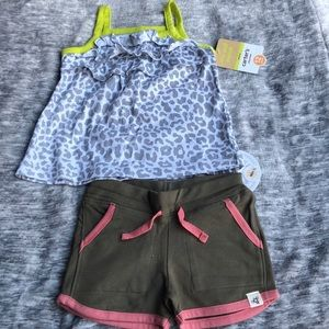 New Burt's bees baby girl set carters shorts 12 m